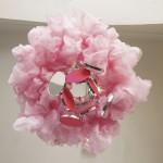 Rosa objekt underifrån